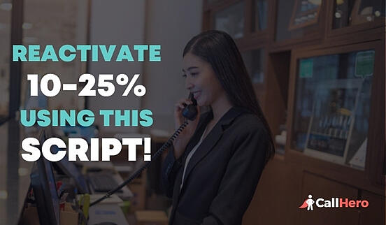 front desk use this script to reactivate 10-25% of lost patients