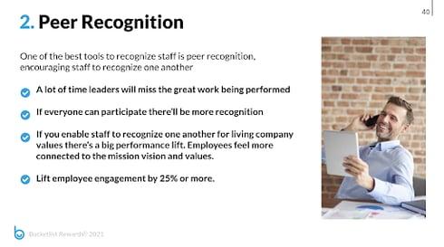 peer to peer recognition breakdown